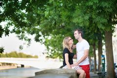 Dating couple in Paris Royalty Free Stock Photos