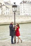 Dating couple in Paris Royalty Free Stock Photo