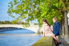 Dating couple in Paris on a nice spring day Stock Image
