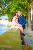 Dating couple in Paris on a nice spring day Stock Photography