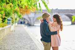 Dating couple in Paris on a nice spring day Royalty Free Stock Photo
