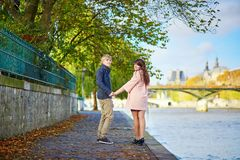 Dating couple in Paris on a spring day Stock Photography