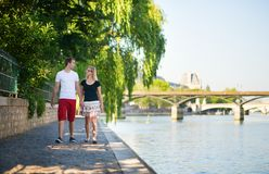 Dating couple in Paris Stock Photography