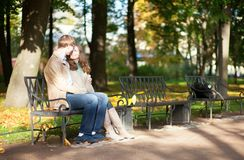 Dating couple in park Stock Photography