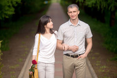 Dating couple Royalty Free Stock Image
