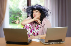 Dating expert is ready to help online Royalty Free Stock Photography