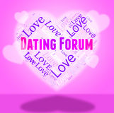 Dating Forum Shows Forums Group And Conference. Dating Forum Representing Social Media And Heart Stock Images