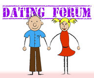 Dating Forum Shows Group Discussion And Sweethearts Stock Images