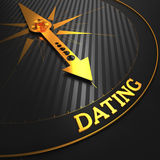 Dating - Golden Compass Needle. Stock Photos