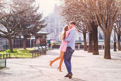 Dating, happy young couple royalty free stock images