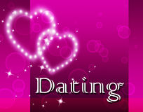Dating Hearts Represents Romantic Romance And Sweetheart Royalty Free Stock Photo