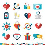 Dating Icon Set Royalty Free Stock Photos