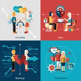 Dating Icon Set Stock Images