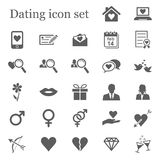 Dating icon set. With 27 s Stock Photography