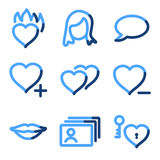 Dating icons Royalty Free Stock Photos