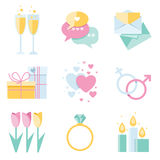 Dating icons Stock Image