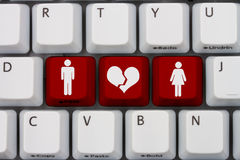 Dating on the internet gone wrong Royalty Free Stock Photography