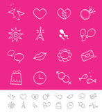 Dating, love & social icons Royalty Free Stock Image