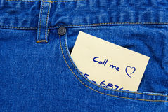 Dating note Stock Photos