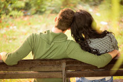 Dating On A Park Bench Royalty Free Stock Images