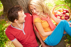 Dating in park Stock Images