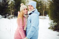 Dating in park Royalty Free Stock Images