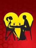 Dating - restaurant. Couple in the restaurant - Dating Royalty Free Stock Photography
