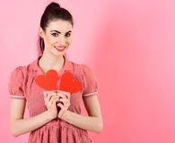 Dating and romance concept. Pretty girl ready for dating Royalty Free Stock Images