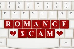 Dating scams on the internet stock photo