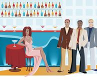 Dating Scene stock illustration