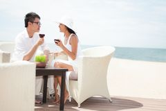 Dating by the sea Royalty Free Stock Image