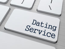 Dating Service Button on Computer Keyboard. Dating Service Concept. Button on Modern Computer Keyboard Stock Image