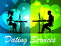 Dating Services Shows Web Site And Business Royalty Free Stock Photos