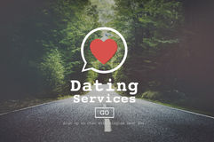 Dating Services Valentine Romance Heart Blind Date Concept Royalty Free Stock Photo