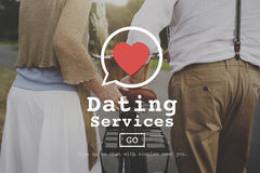 Dating Services Valentine Romance Heart Blind Date Concept Stock Photo