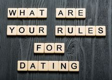 Dating. Speed day first question profile network stock photo