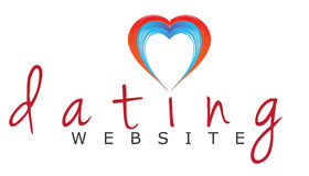 Dating website logo. Vector logo template for a dating / singles  website with handwritten font Royalty Free Stock Photos
