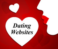 Dating Websites Represents Love Internet And Sweethearts Royalty Free Stock Images