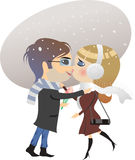 Dating winter Stock Image