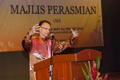 Dato Ibrahim Ismail (Director Museum Malaysia). Seremban, Malaysia, May 18, 2011 : Dato' Ibrahim Ismail, Director General Department of Museums Malaysia, giving Stock Photos