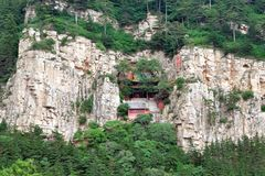 Datong hengshan, shanxi, China. One of the five famous mountains in China, magnificent and magnificent, famous landscape Stock Photography
