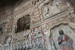 Datong Yungang Grottoes Royalty Free Stock Photos