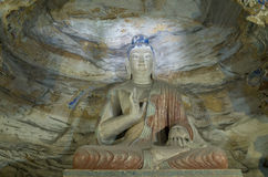 Datong Yungang Grottoes Stock Photos