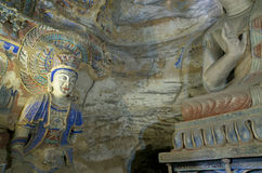 Datong Yungang Grottoes. Yungang Grottoes, located in Datong City of Shanxi province, China, represents outstanding Chinese Buddhist Grottoes Art during the 5th Royalty Free Stock Photography