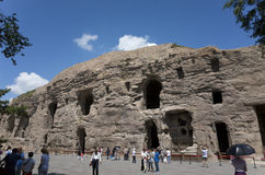 Datong Yungang Grottoes Stock Photo