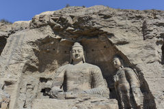 Datong Yungang Grottoes. Yungang Grottoes, located in Datong City of Shanxi province, China, represents outstanding Chinese Buddhist Grottoes Art during the 5th Royalty Free Stock Images