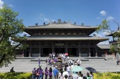 Datong Yungang grottor Royaltyfri Bild