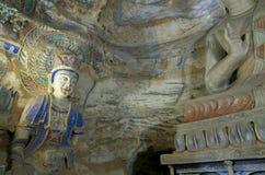 Datong Yungang grottor Royaltyfri Fotografi