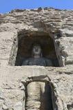 Datong Yungang grottor Royaltyfria Bilder