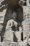 Datong Yungang grottor Arkivfoto